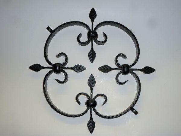 Schmiedeeisen Ornamente verzinkt schwarze Pulverbesch
