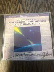 CD Wolfgang Amadeus Mozart Violinkonzerte