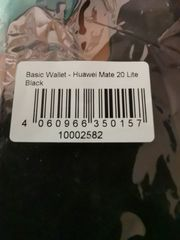 Flipcover Leder schwarz Huawei Mate