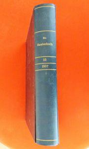-Die Bautechnik- Fachbuch von 1937