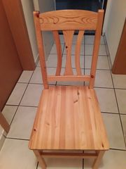 Esszimmerstühle Echtholz Natur mit oder