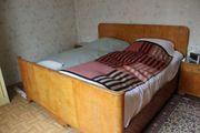 Antikes Doppelbett - Eiche geschliffen vollholz