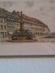 Radierung St Johanner Markt