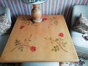Tisch mit Intarsien 4 Rosen