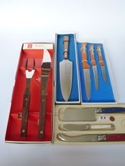 8 hochwertige Messer 1 Tranchiergabel