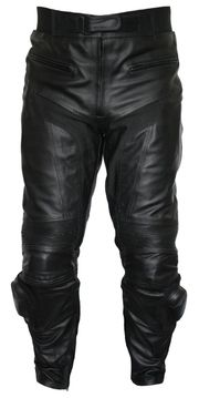 Motorradhose Rindsleder schwarz