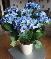 Künstlliche Hortensie 53cm blau