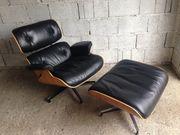 Eames Lounge Chair Ottoman Schwarz