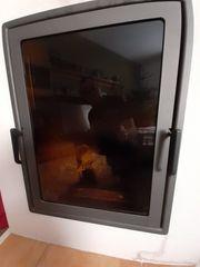 Glastür für Kachelofen
