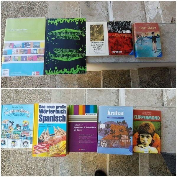 Literatur und Lernbücher günstig abzugeben