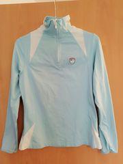 TCM Sportshirt hellblau langärmlig Zipper