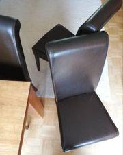 5 Wohnzimmer- stühle Leder- Stuhl