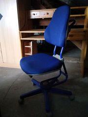 Schreibtischstuhl Drehstuhl blau