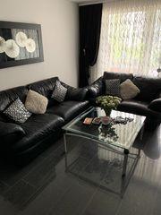 Couch in Echtleder 2-und 3