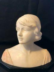 Alabaster Frauenbüste - aus Nachlass - sehr