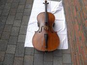 Cello mit Zettel Antonius Stradiuarius