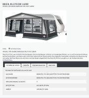 Vorzelt Dorema Ibiza XL270 De