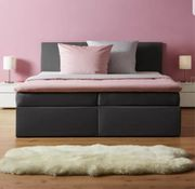 Boxspringbett in grau inkl Topper -