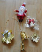 Weihnachtsdekorationen - Weihnachtsmann 2 Engel Glöckchen-Gehänge