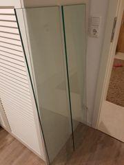 2x Glasregal Länge 121cm Breite