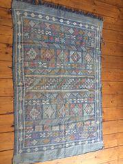Kelim Teppich Marokko blau