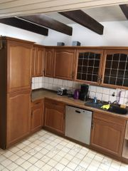 Große rustikale L-Küche gebraucht mit