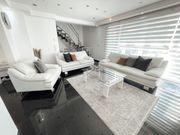 Leder Couch Garnitur Sofa Sessel