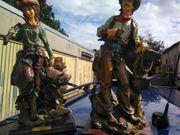 Holzpuppen cowboy Mann und Frau