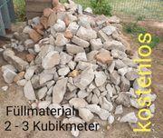 Füllmaterial Beton Brocken Unterbau für