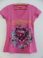 Tshirt Ed Hardy rosa pink
