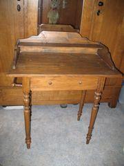 Tischchen Waschtisch Holz antik