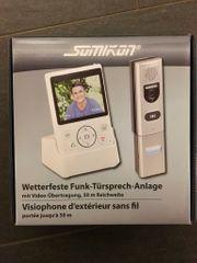 Funk-Türsprech-Anlage mit Kamera Somikon