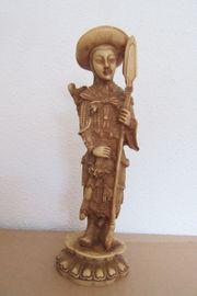 Skulptur Asiatischer Krieger Jäger