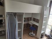 2x Zwillinge Hochbett Schreibtisch Parisot