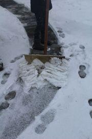 stabiler Schneeschieber Schneeschaufel Schneeräumer