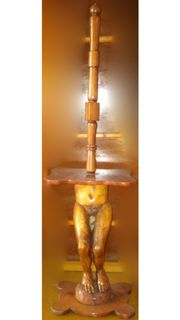 For Sale Lamp-Sculpture - Wood