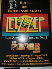 LED ZEPPELIN UND DOORS-COVERBAND-TICKET AM