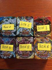 6 Boxen mit Yu-Gi-Oh Karten