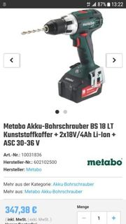 Metabo Akkubohrmaschine