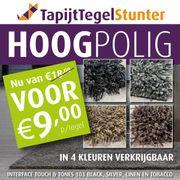 Schöne hochflorige Teppichfliesen in A-Qualität