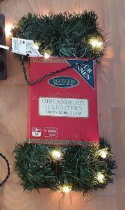 1 Weihnachtsgirlande Lichterkette 5 5m