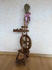 Spinnrad Eiche funktionstüchtig Dekoration Kunsthandwerk