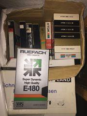 Video VHS Kasetten