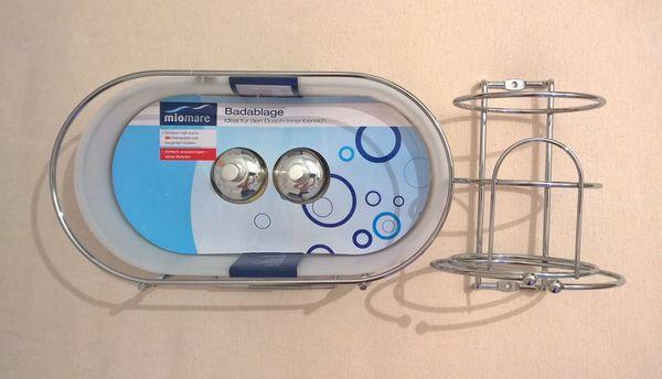 Duschablage Haartrocknerhalter Miomare ohne Bohren