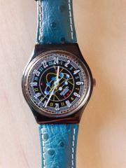 Swatch Swiss Uhr Armbanduhr Lederarmband