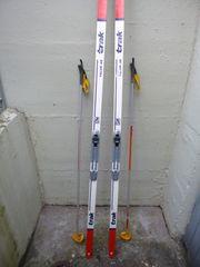 Langlauf Skiset LL Stöcke Schuhe