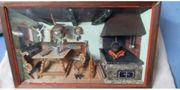 antikes 3D Holzbild Thorens - Bauernküche