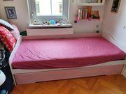 2x Einzelbett mit Gästebett Massivholz