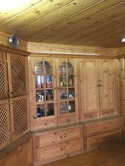 einbau komplett wohnzimmer echtem eichenholz