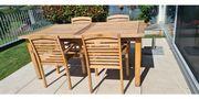Gartenmöbel Teak Tisch mit 8